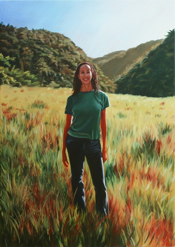 Julie in Jamaica______2009, oil on canvas, 853 x 603mm, £500.