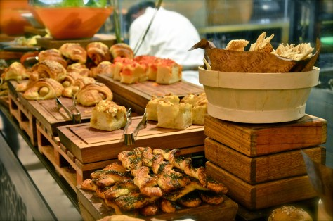 Freshly made breads, croissants at Friday brunch Boulevard Kitchen Manzil Downtown Dubai