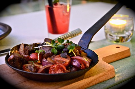 lomo saltado - dhs 95 - stir fried beef with soy sauce & red vinegar, criollo portato and quail egg