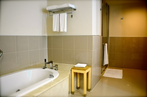 Spacious bathrooms with separate shower
