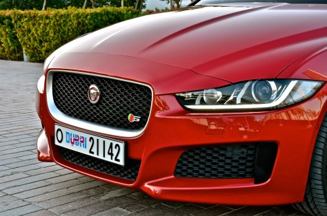 Jaguar XE S - with Bi-function Xenon head lights with LED 'J' blade Daytime running lights