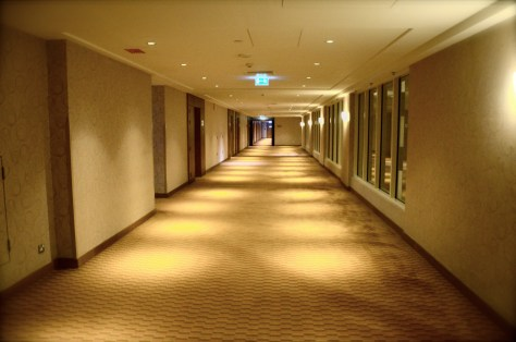 Typical corridors of Traders Hotel