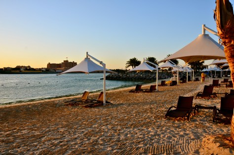 Private beach of Traders hotel, Abu Dhabi