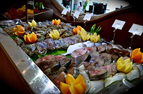Fresh Fish and Meat to Grill at Tides Restaurant