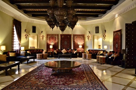 Al Majilis - offers traditional Majlis seating area with elegant Arabian decor.