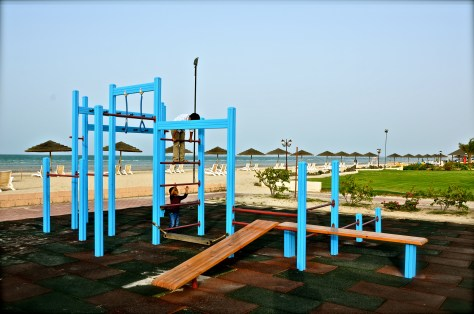Play area at Danat Jebel Dhanna Resort