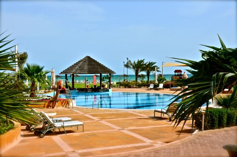 Swimming pool at Danat Jebel Dhanna Resort