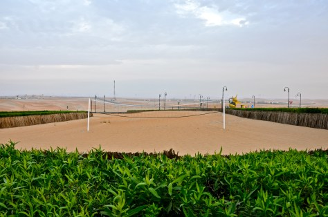 Complimentary Volleyball court at Tilal Liwa Hotel
