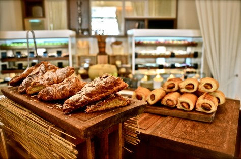 Almond croissant and sausage rolls - Dhs 125 breakfast buffet at 3in1 - Vida Downtown