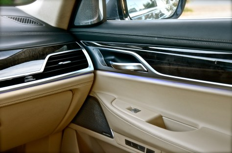 BMW 750 Li interior design with ambient lighting