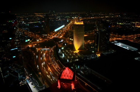The view from Executive Suite located on the 45th floor, Conrad Dubai