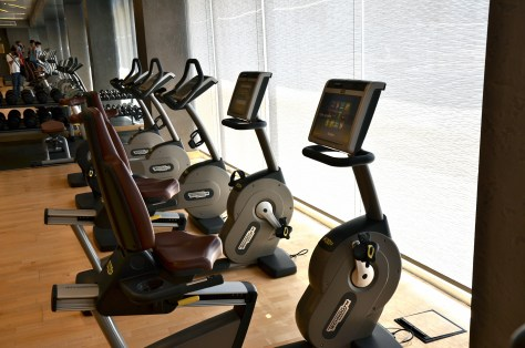 Gymnasium facilities at Conrad Dubai