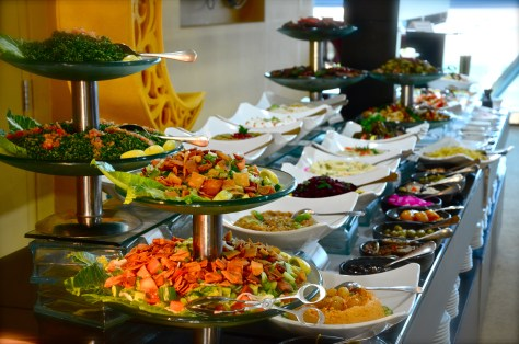 Salads at Dhs 170 Iftar buffet at Meydan Hotel