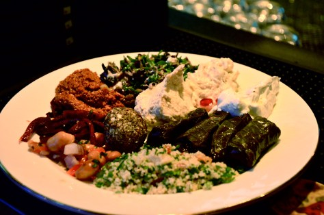 My plate of Arabic cold Mezze