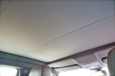 The full-size panoramic roof closed.