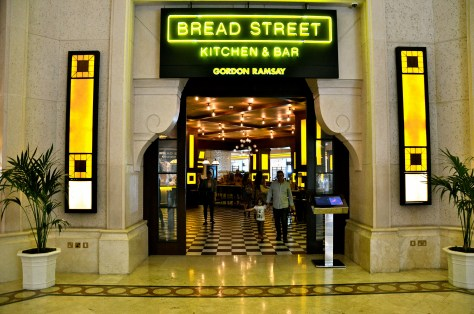 Entrance to Bread Street Kitchen at Atlantis Dubai
