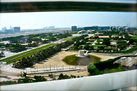 View of the Khalifa Park from our suite