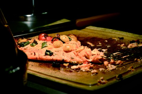 Fresh cut Salmon - eafood Night at GINGER ALL DAY DINING