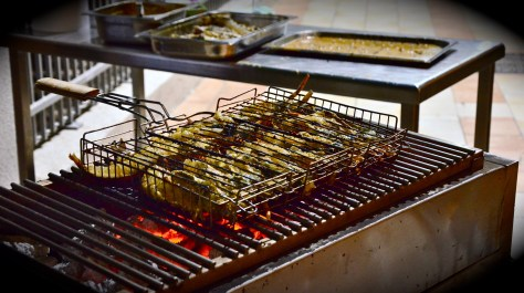 Fresh seafood getting grilled at GINGER ALL DAY DINING - seafood night