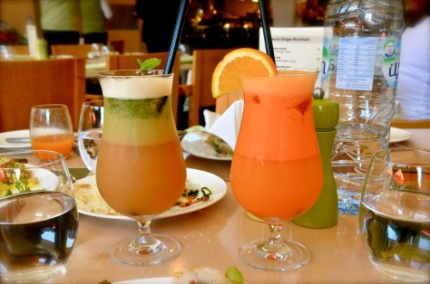 Mocktails at Ginger All day dining restaurant