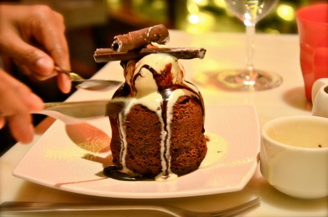 Chocolate Fondant with vanilla gelato icecream- AED 50