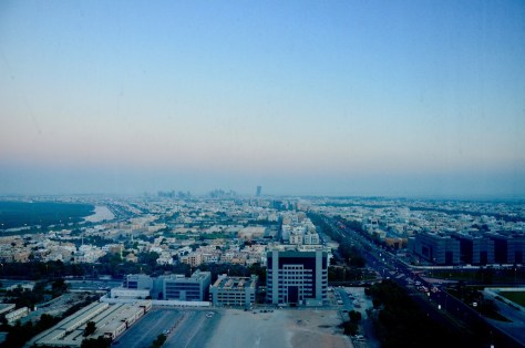 Our view of Abu Dhabi City from our Junior Club Suite, Dusit Thani Abu Dhabi