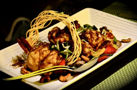WOK FRIED - Phad Med Ma Mueng(AED 120) - with capsicum, dried chilli and cashew nuts