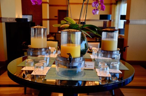 Fresh juices for Dusit Club Lounge breakfast