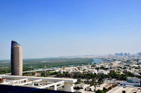 The view from Dusit Thani Abu Dhabi terrace