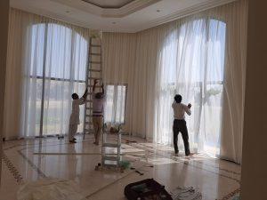 best curtain installation service dubai