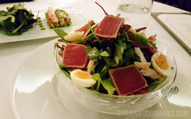 Tuna salad at La Residence Dubai