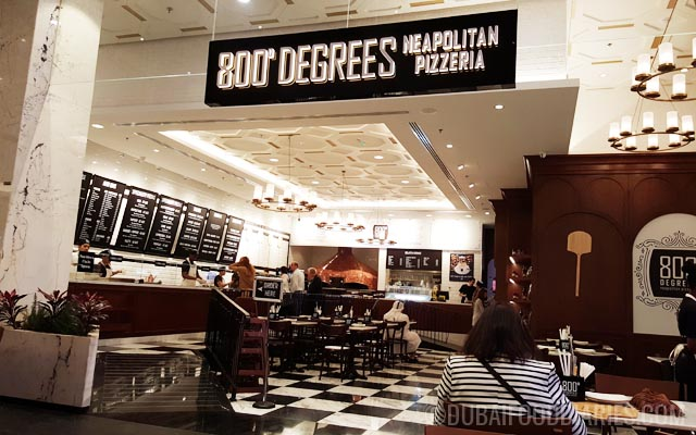 Interior at 800 Degrees Neapolitan Pizzeria Mall of the Emirates Dubai
