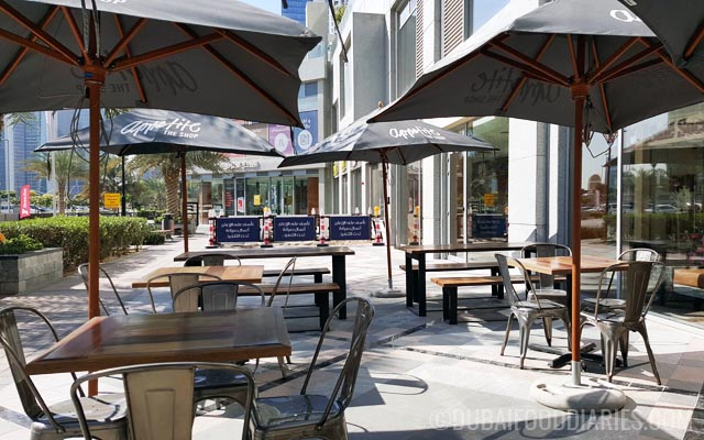 Outdoor seating at Appetite the Shop in Business Bay Dubai