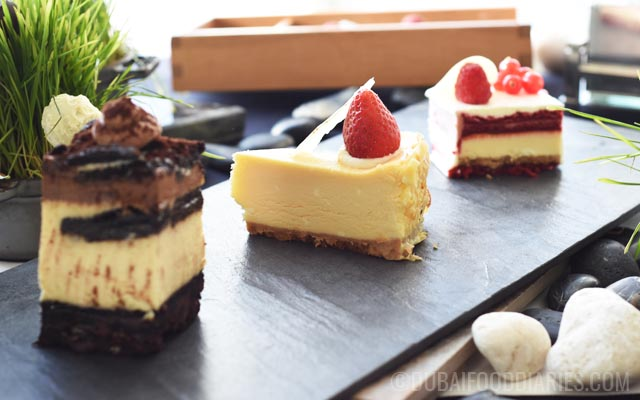 Cheesecakes at Tea Party on 68th Prime68 JW Marriott Marquis Dubai
