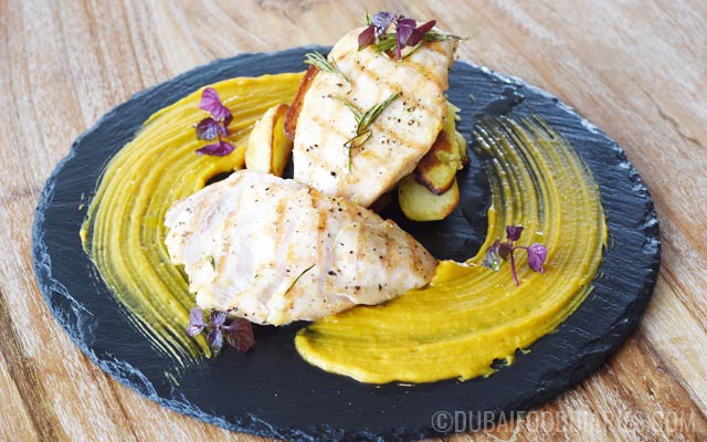 Chicken breast at Per Te restaurant Jumeirah 1 Dubai