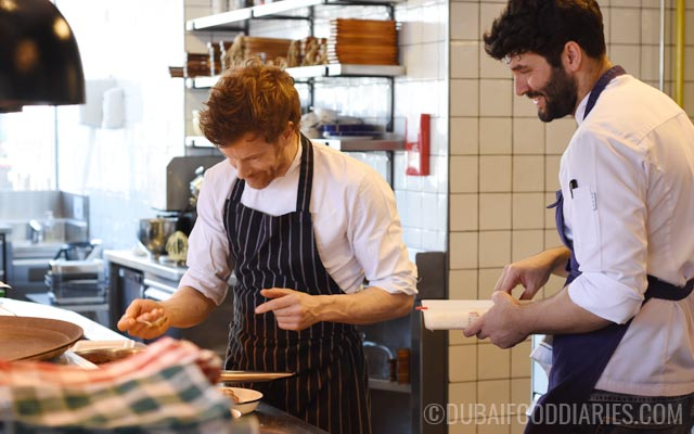 Tom Aikens and Ibby at Pots Pans and Boards The Beach Dubai