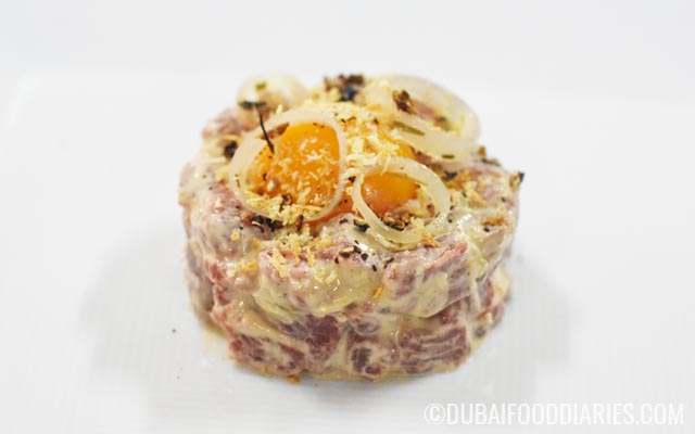 Beef tartare at Taste of Dubai 2016