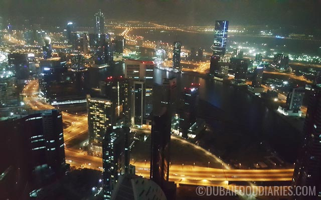 View of Downtown Dubai from Weslodge Saloon at JW Marriott Marquis Dubai