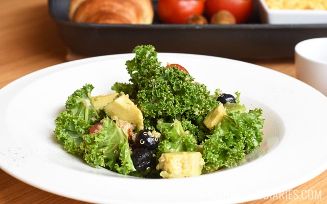 Kale salad at Counter Culture Cafe Marriott Harbour Hotel and Suites Dubai Marina