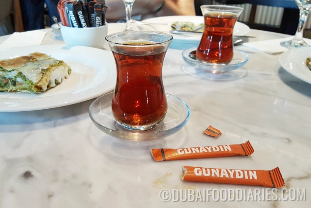 Turkish tea at Gunaydin, Souk al Bahar, Downtown Dubai