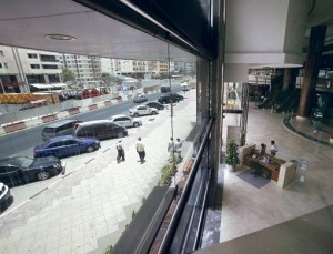 View from Al Owais Centre. Al Rigga Road is considered one the most exciting part of the city all year around as it has dozens of restaurants and shops offering a large variety of shopping, entertainment and leisure.