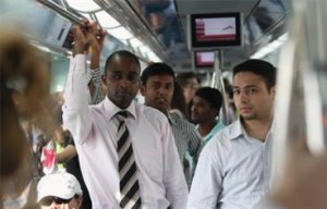 People from all walks of life crowded the Metro on the first day. (SATISH KUMAR)