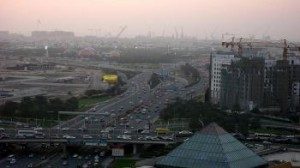 Dubai, known for its heavy traffic, compounded by constant detours from construction projects, has just opened its first metro. (Cindy Drukier/The Epoch Times)