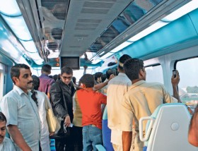 Ahmed Ramzan/Gulf News The RTA has launched a campaign to help spread awareness and make people understand why etiquette needs to be maintained for smooth train operations.