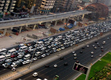 CAR STATISTICS: UAE car sales and the proportion of car ownership are predicted to grow despite the arrival of the Dubai Metro. (Getty Images)