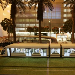 © XPRESS/Karen Dias The underground: A model of the Pink Line of the Metro which will form an essential part of Jumeirah Gardens.