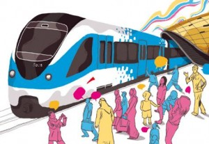 A public transport system serves the role of a catalyst in melting away class boundaries.Image Credit: Luis Vazquez, Designer, Gulf News