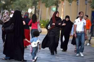 The Walk at Jumeirah Beach Residence is proving a popular avenue to take a stroll. Nicole Hill / The National