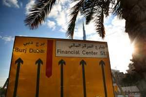 Road signs became instantly outdated after the Burj Dubai had its name changed to Burj Khalifa. Nicole Hill / The National