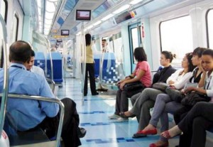 *  A fine of Dh100 is slapped on commuters found violating this rule.     * Image Credit: Megan Hirons Mahon/Gulf News